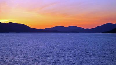 Photograph - Juneau Sunset by Judy Wanamaker