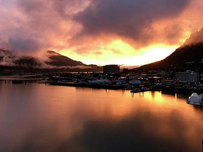 Juneau Sunset Art Print