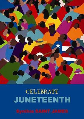 Multicultural Painting - Juneteenth  by Synthia SAINT JAMES