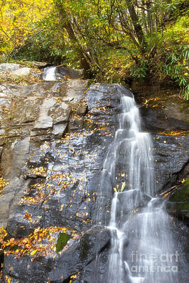Rural Scene Photograph - Juney Whank Falls In Nc by Jill Lang