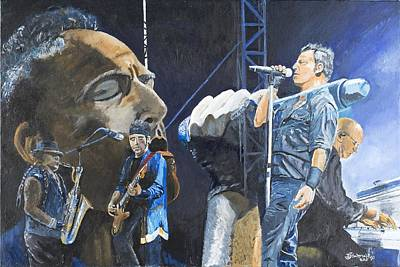 Bruce Springsteen Art Painting - Jungeland by Bruce Schmalfuss