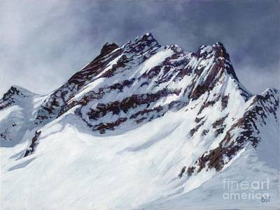Painting - Jungfrau - Swiss Alps by Betsee  Talavera
