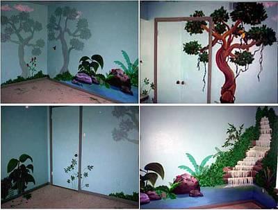 Painting - Jungle Bedroom Mural by Kaley LaRose