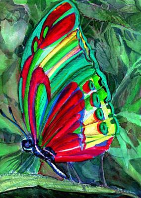 Jungle Butterfly Art Print by Mindy Newman