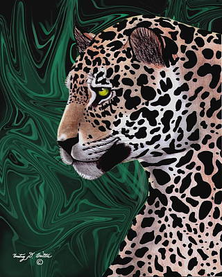 Jungle Cat Print by Courtney Britton