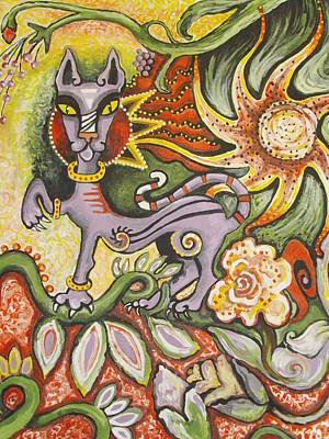 Jungle Cat Art Print by Elizabeth Bonanza