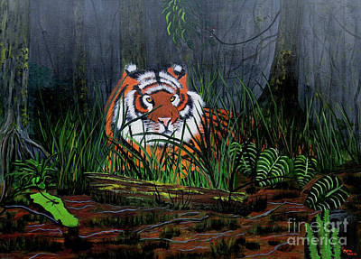 Jungle Cat Art Print by Myrna Walsh