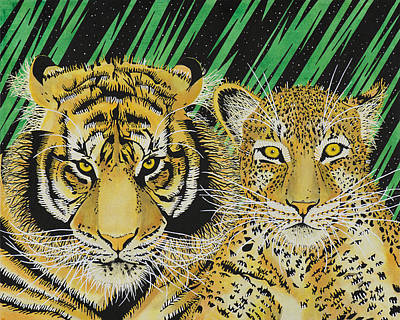 Jungle Cats Art Print by Alan Morrison