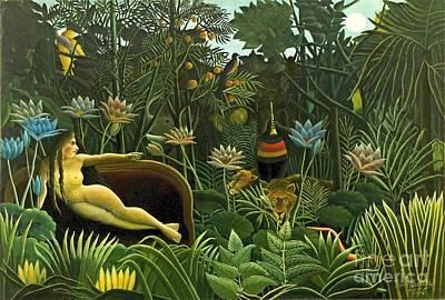 Jungle Dream 1910 Print by Padre Art