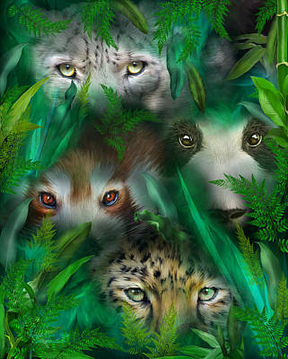 Mixed Media - Jungle Eyes - Asia by Carol Cavalaris