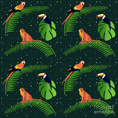 Toucan Digital Art - Jungle Fever by Claire Huntley