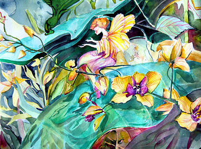 Orchids Drawing - An Easter Angel by Mindy Newman