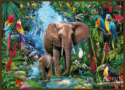 Jungle Art Print by Jan Patrik Krasny