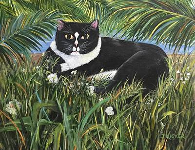 Painting - Jungle Kitty by Jane Ricker