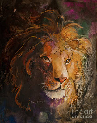Lion Of Judah Painting - Jungle Lion by Sherry Shipley