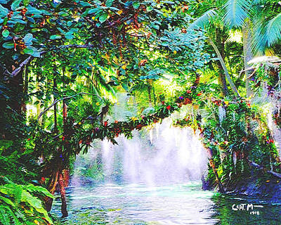 Photograph - Jungle Mist-wc by Mickey Wright