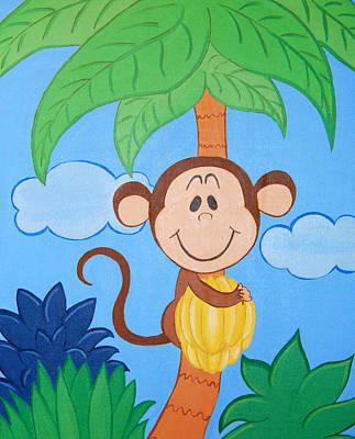 Jungle Monkey Art Print