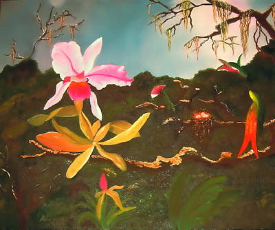 Painting - Jungle Orchid by Alanna Hug-McAnnally