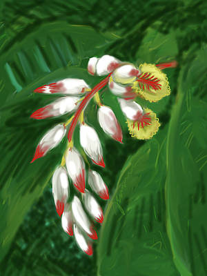 Painting - Jungle Orchid by Jean Pacheco Ravinski