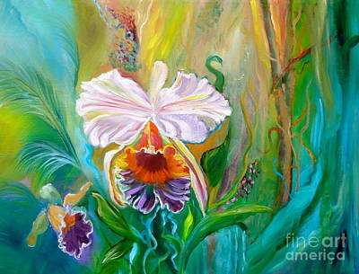Jungle Orchid Art Print by Jenny Lee