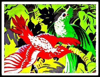 Painting - Jungle Parrots by Dwight Goss