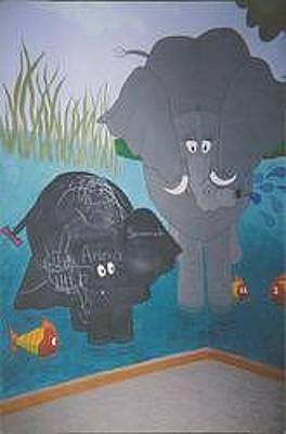 Painting - Jungle Playroom by Anna Villarreal Garbis