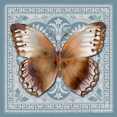Turkish Painting - Jungle Queen Butterfly Design by Amy Kirkpatrick