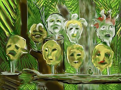 Art Print featuring the digital art Jungle Spirits by Jean Pacheco Ravinski