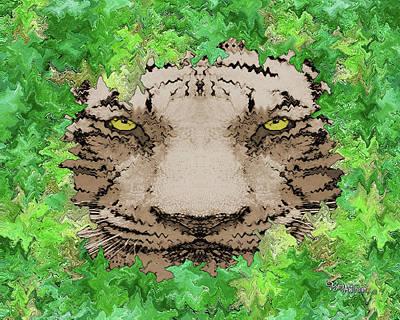 Digital Art - Jungle Tiger #165 by Barbara Tristan