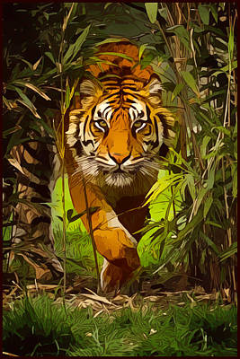 Digital Art - Jungle Tiger by Gary Grayson