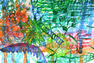 Jungle View With Rope Ladder Original by Heidi Capitaine
