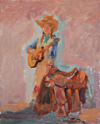 Painting - Juni Fisher Live by Karen McLain