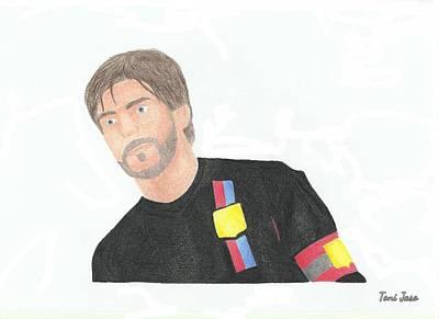 Drawing - Juninho Pernambucano by Toni Jaso