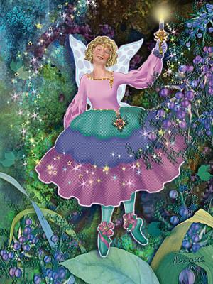 Matanuska Painting - Juniper Berry Fairy Charelle Noelle by Teresa Ascone