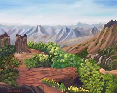 Juniper Canyon   Lost Mine Trail Art Print by Ruth  Housley
