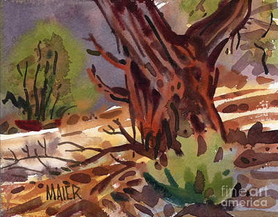 Painting - Juniper Shade by Donald Maier
