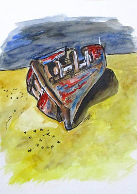 Painting - Junk Fishing Boat by Clyde J Kell