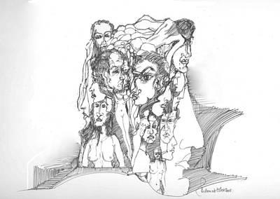 Junk In The Head Art Print by Padamvir Singh