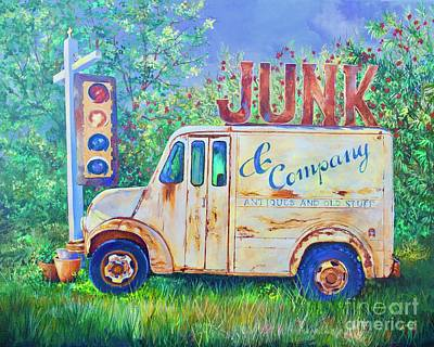Painting - Junk Truck by AnnaJo Vahle