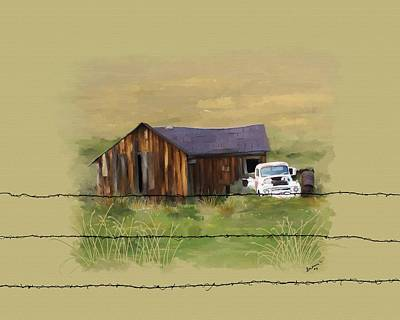 Art Print featuring the painting Junk Truck by Susan Kinney