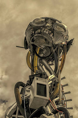 Machinery Photograph - Junk Yard Robot by Martin Newman