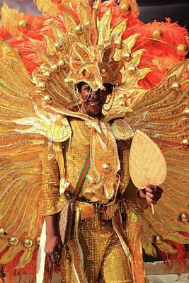 Photograph - Junkanoo Dancer, Nassau Bahamas by Roupen  Baker