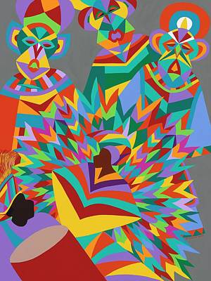 Painting - Junkanoo by Synthia SAINT JAMES