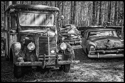 Photograph - Junked Mack Truck Ad Old Plymouth by Matthew Pace