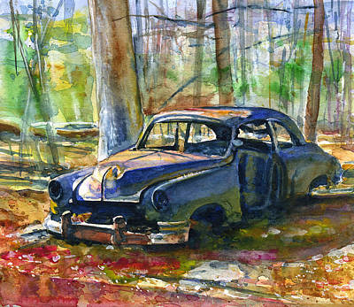 Painting - Junker At Olive Green Cabin by John D Benson