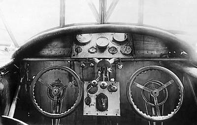 Photograph - Junker Plane Cockpit by Underwood Archives