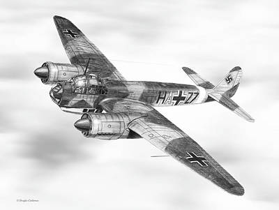 Drawing - Junkers Ju-88a by Douglas Castleman