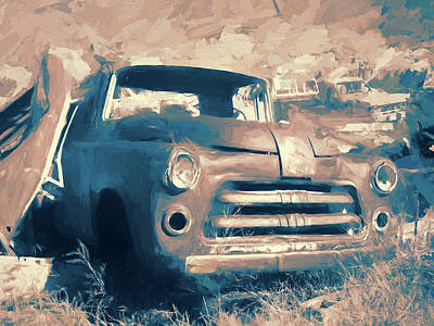 Digital Art - Junkyard Dodge by David King
