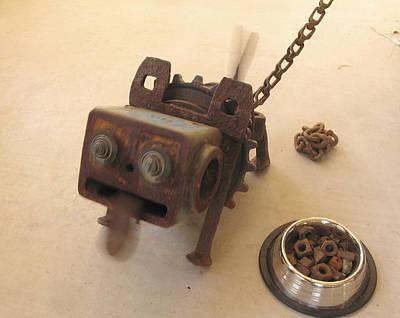 Sculpture - Junkyard Dog by Windy Dankoff