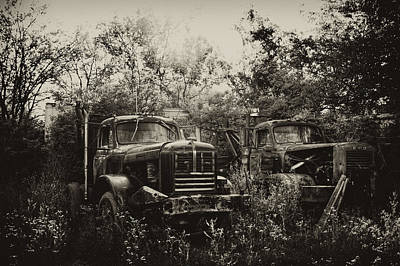 Antique Tow-truck Photograph - Junkyard Dogs IIi by Off The Beaten Path Photography - Andrew Alexander